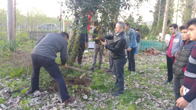 Terme Anadolu Gençlik Şehit Aileleri Ziyaretinde